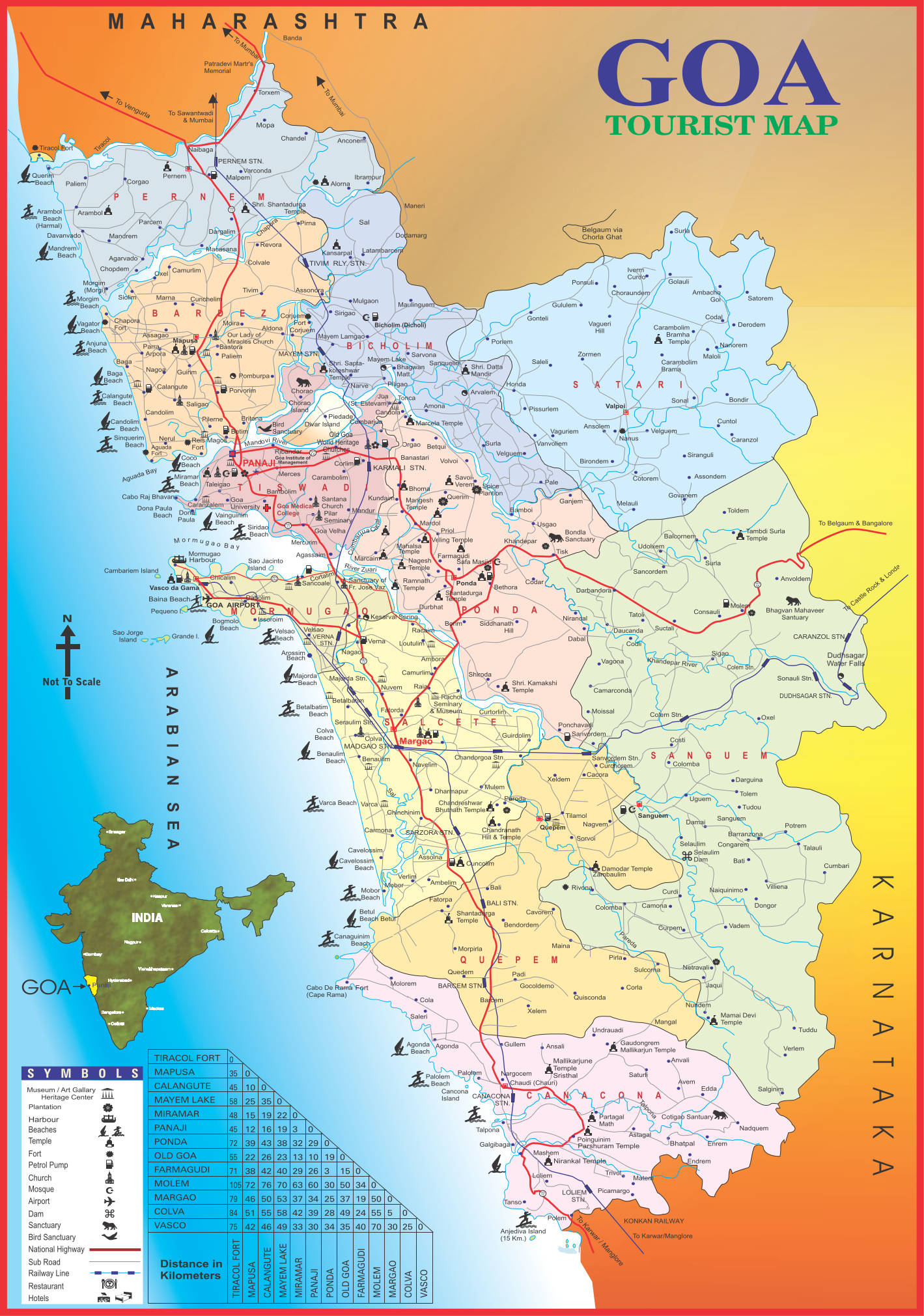 Goa Tourism  Others  Map of Goa