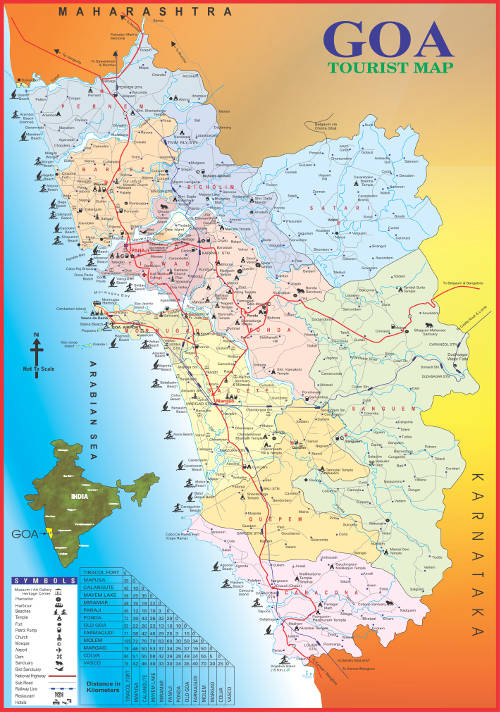 Map Of Goa GTDC Map Of Goa